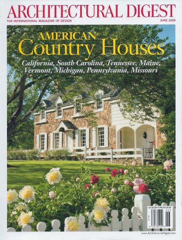 Architectural Digest June 2009 Wine Country Italian